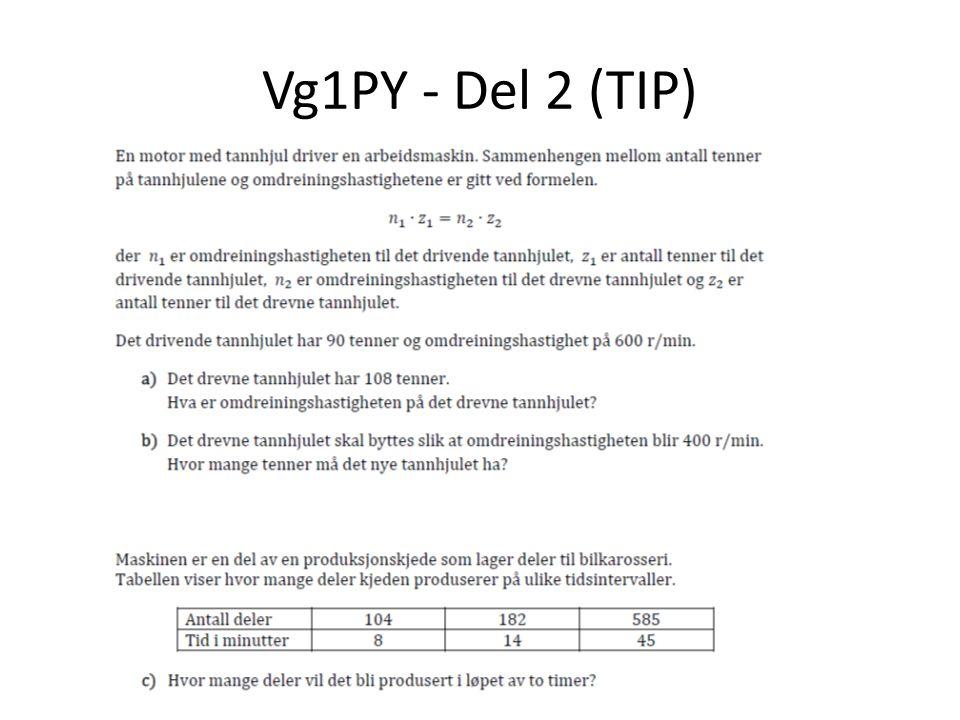 Vg1PY - Del 2 (TIP)