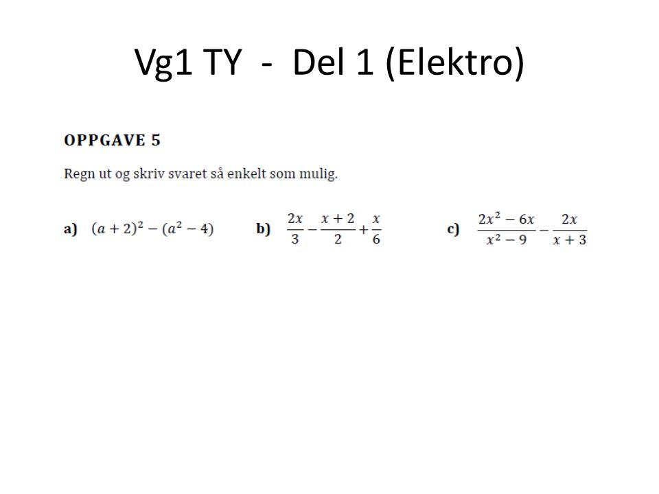 Vg1 TY - Del 1 (Elektro)