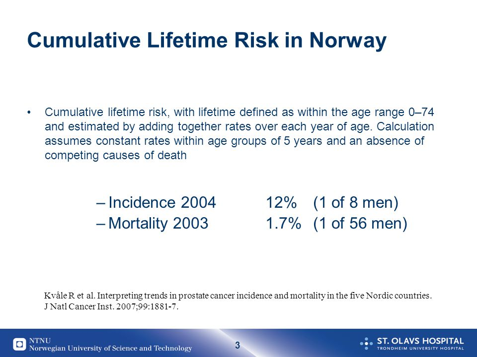 Cumulative Lifetime Risk in Norway