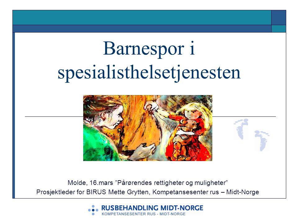 Barnespor i spesialisthelsetjenesten