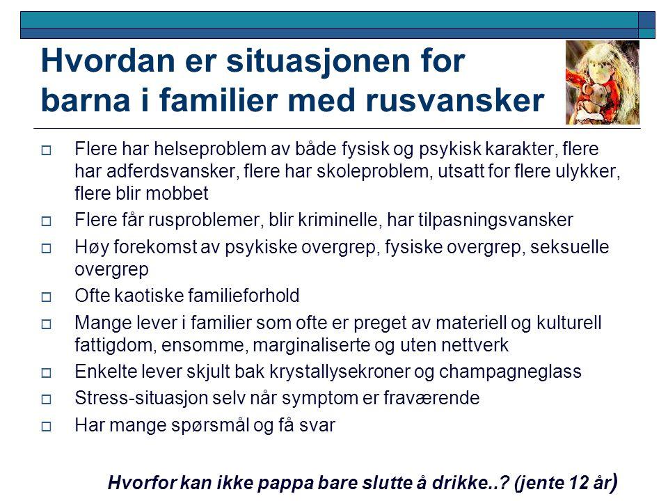 Hvordan er situasjonen for barna i familier med rusvansker