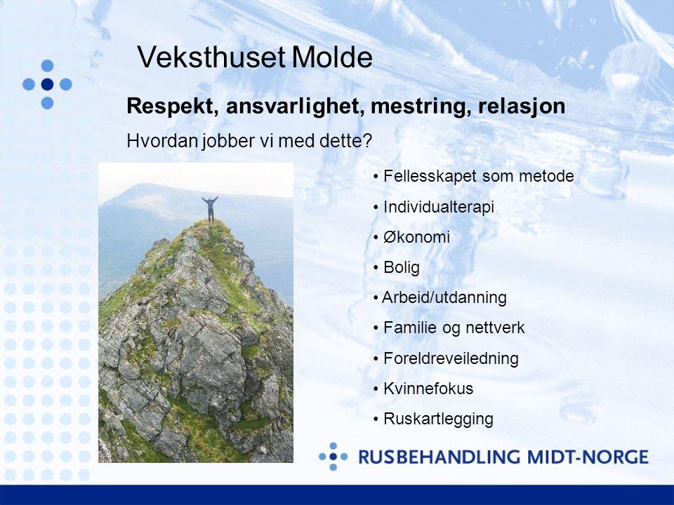 Veksthuset Molde Respekt, ansvarlighet, mestring, relasjon