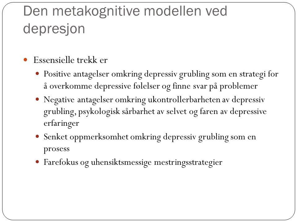 Den metakognitive modellen ved depresjon