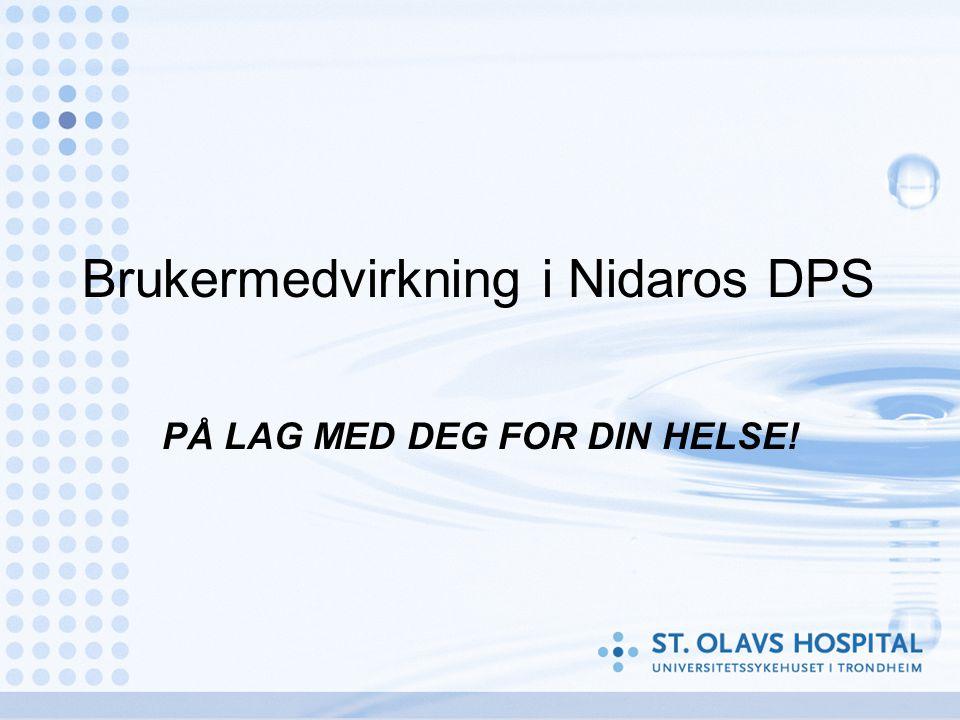 Brukermedvirkning i Nidaros DPS