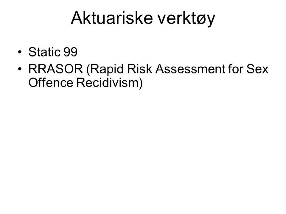 Aktuariske verktøy Static 99
