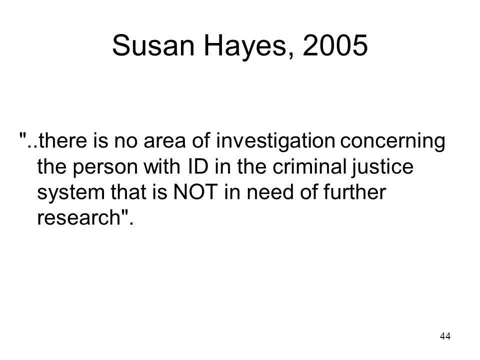Susan Hayes, 2005