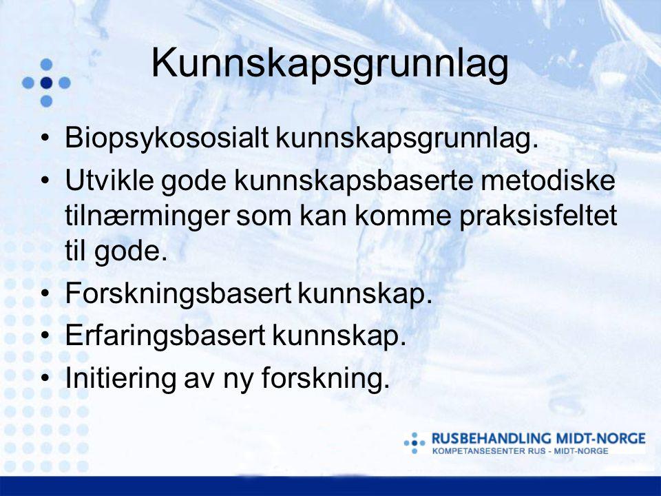 Kunnskapsgrunnlag Biopsykososialt kunnskapsgrunnlag.