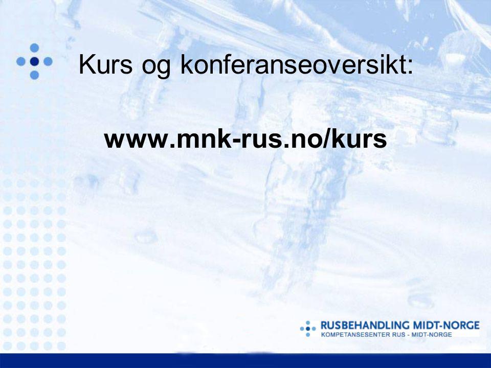 Kurs og konferanseoversikt: