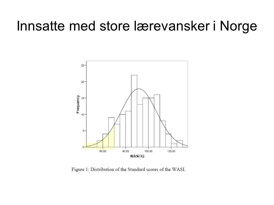 Innsatte med store lærevansker i Norge