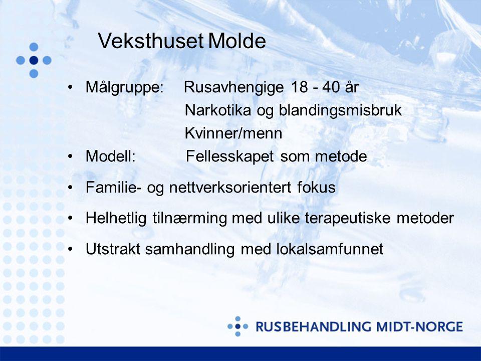 Veksthuset Molde Målgruppe: Rusavhengige 18 - 40 år