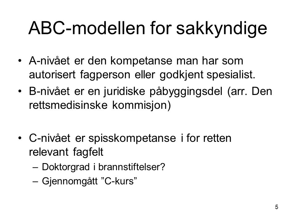 ABC-modellen for sakkyndige