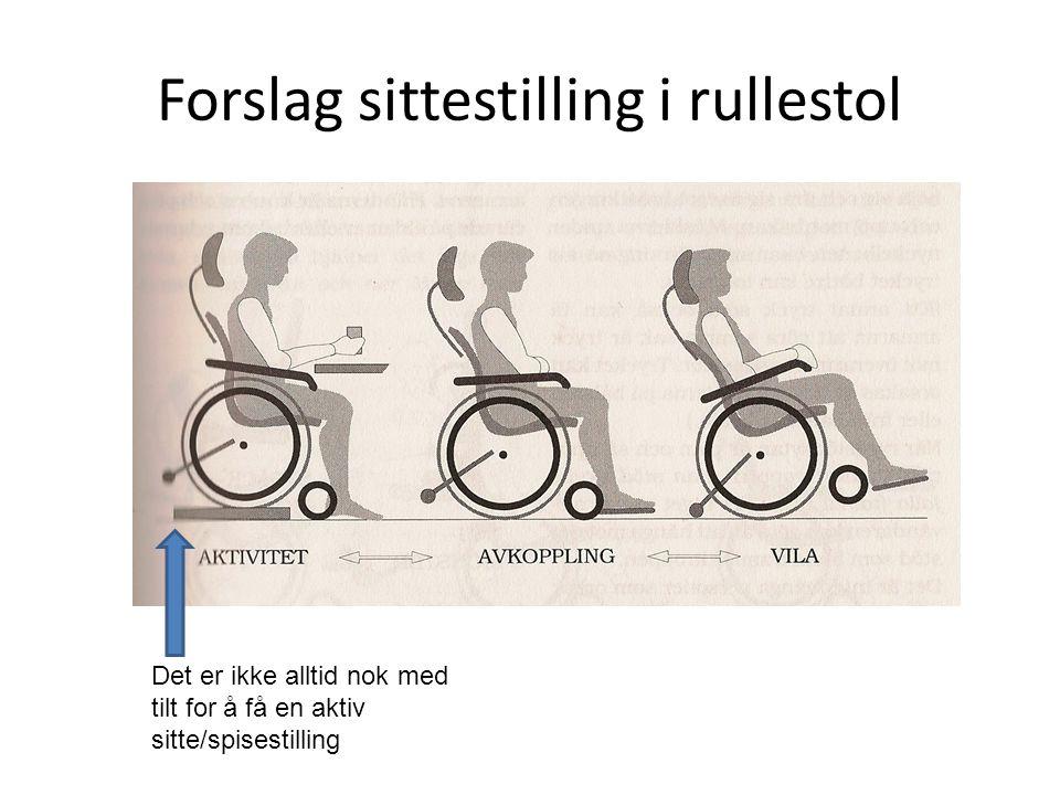 Forslag sittestilling i rullestol