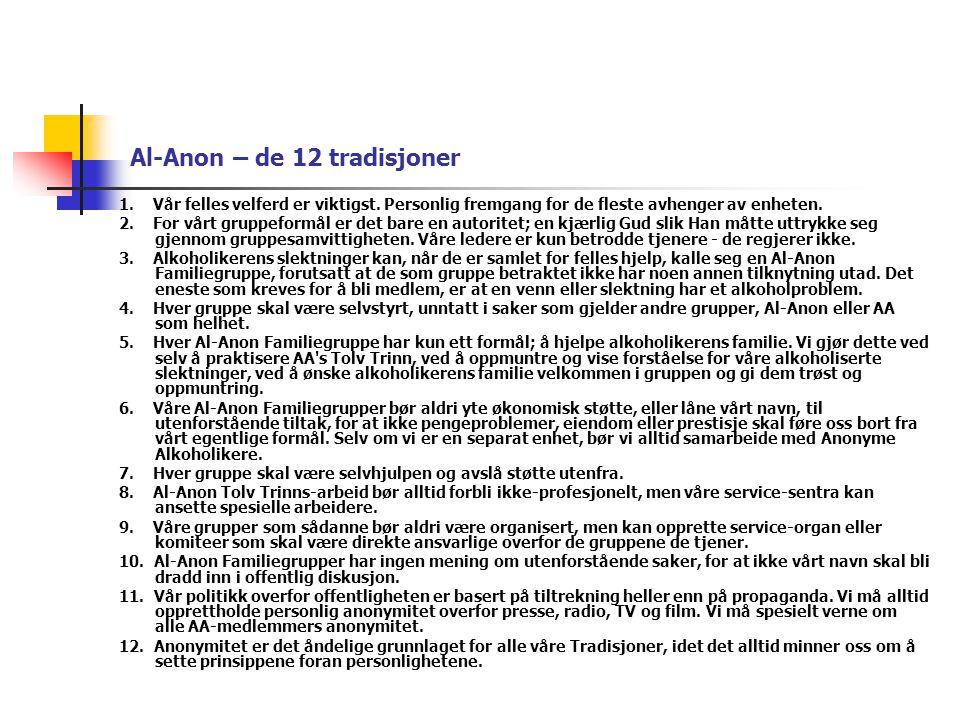 Al-Anon – de 12 tradisjoner