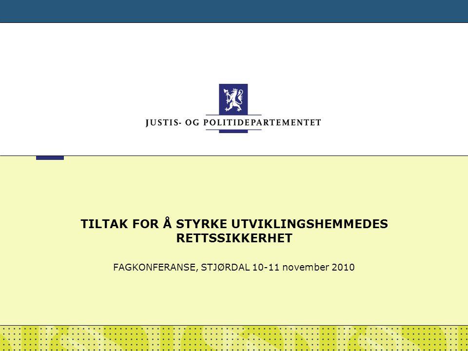 TILTAK FOR Å STYRKE UTVIKLINGSHEMMEDES RETTSSIKKERHET
