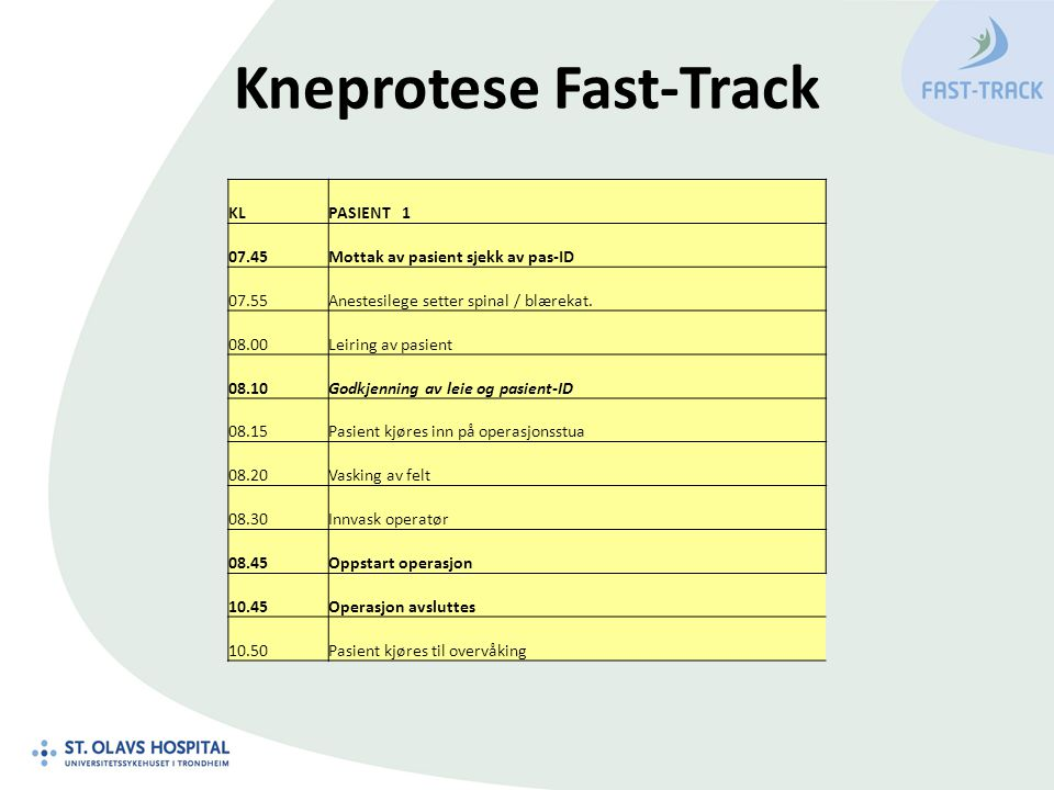 Kneprotese Fast-Track
