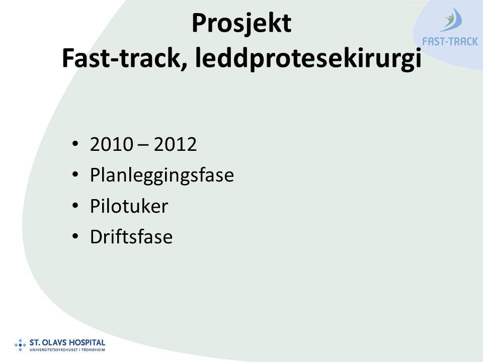 Prosjekt Fast-track, leddprotesekirurgi