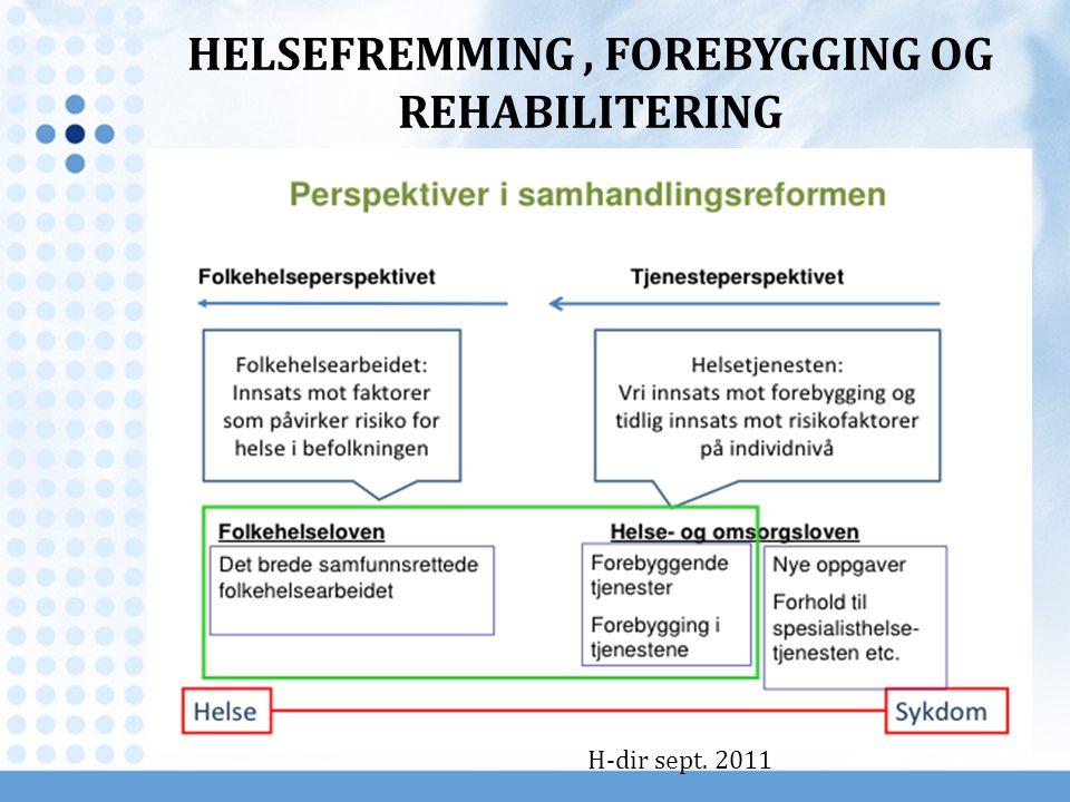 HELSEFREMMING , FOREBYGGING OG REHABILITERING