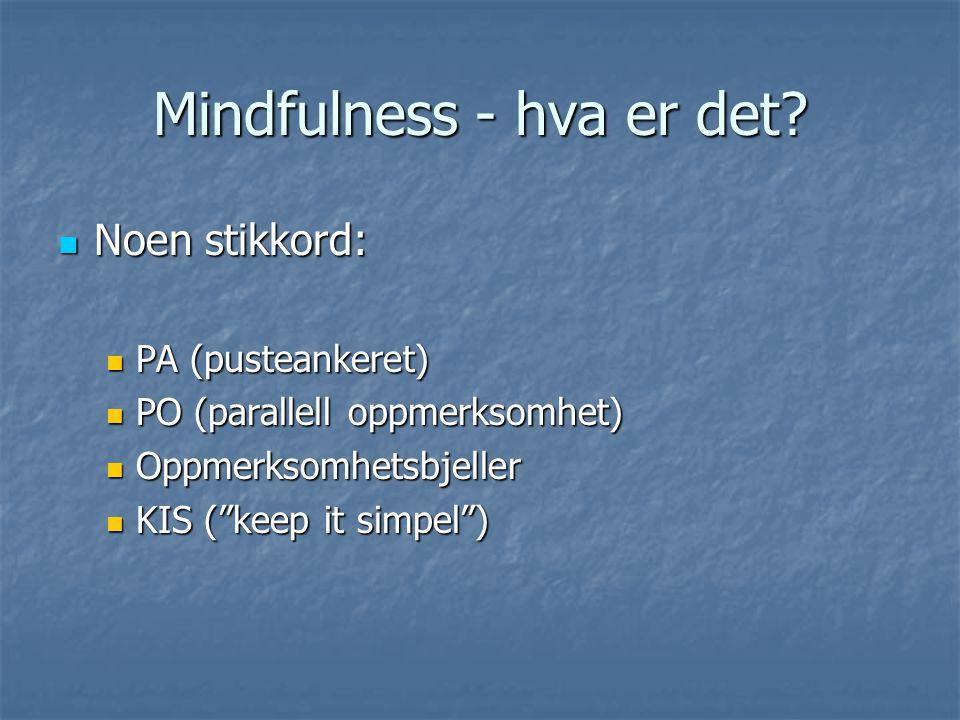 Mindfulness - hva er det