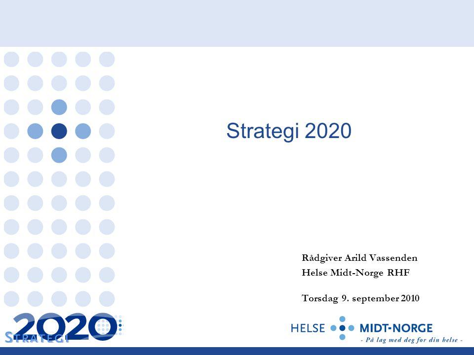 Strategi 2020 Rådgiver Arild Vassenden