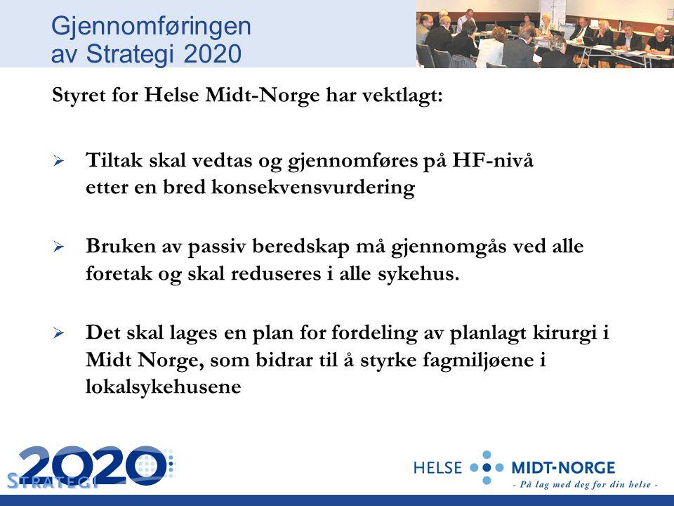 Gjennomføringen av Strategi 2020