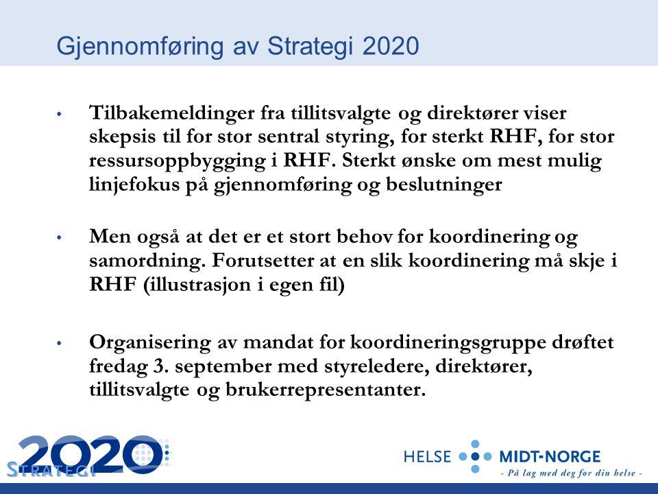 Gjennomføring av Strategi 2020