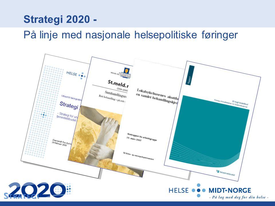 Strategi 2020 - På linje med nasjonale helsepolitiske føringer
