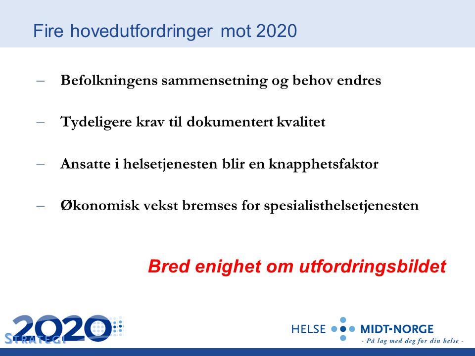 Fire hovedutfordringer mot 2020