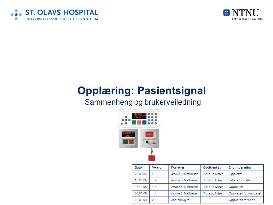 Opplæring: Pasientsignal