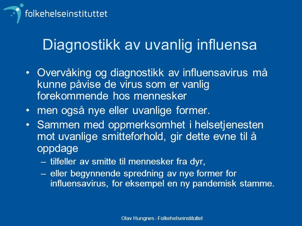 Diagnostikk av uvanlig influensa