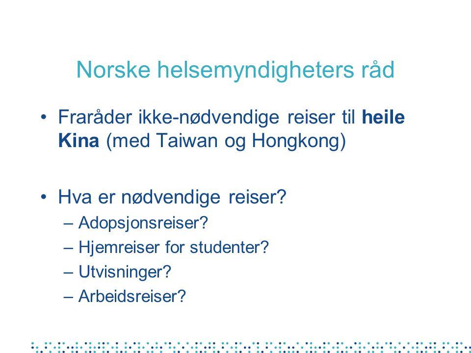 Norske helsemyndigheters råd