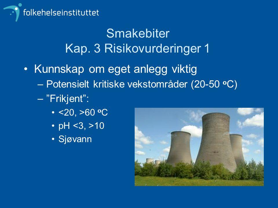 Smakebiter Kap. 3 Risikovurderinger 1