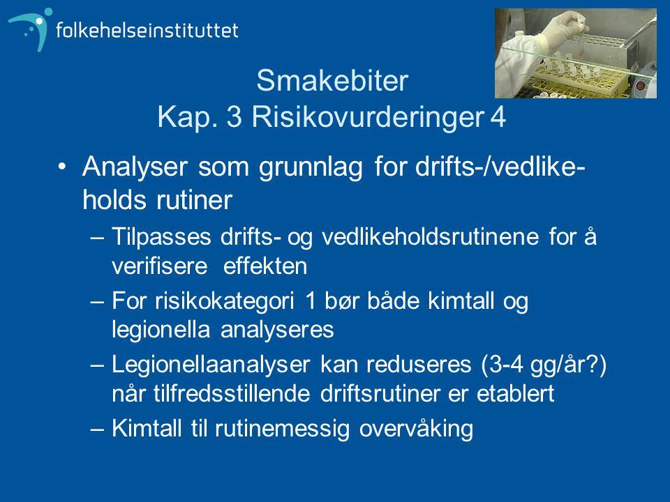 Smakebiter Kap. 3 Risikovurderinger 4