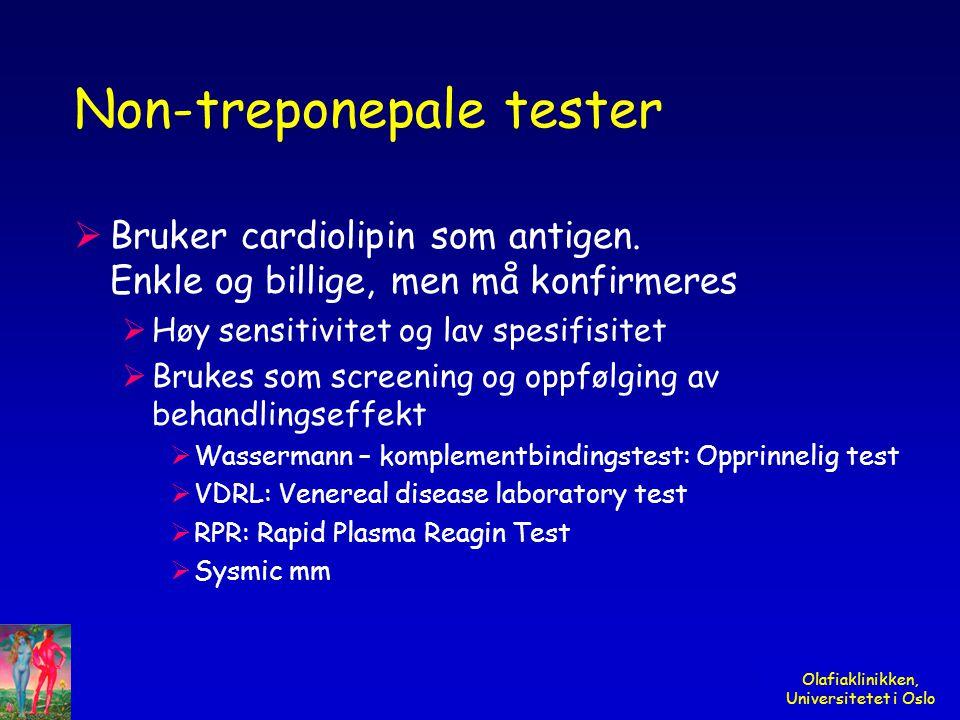 Non-treponepale tester
