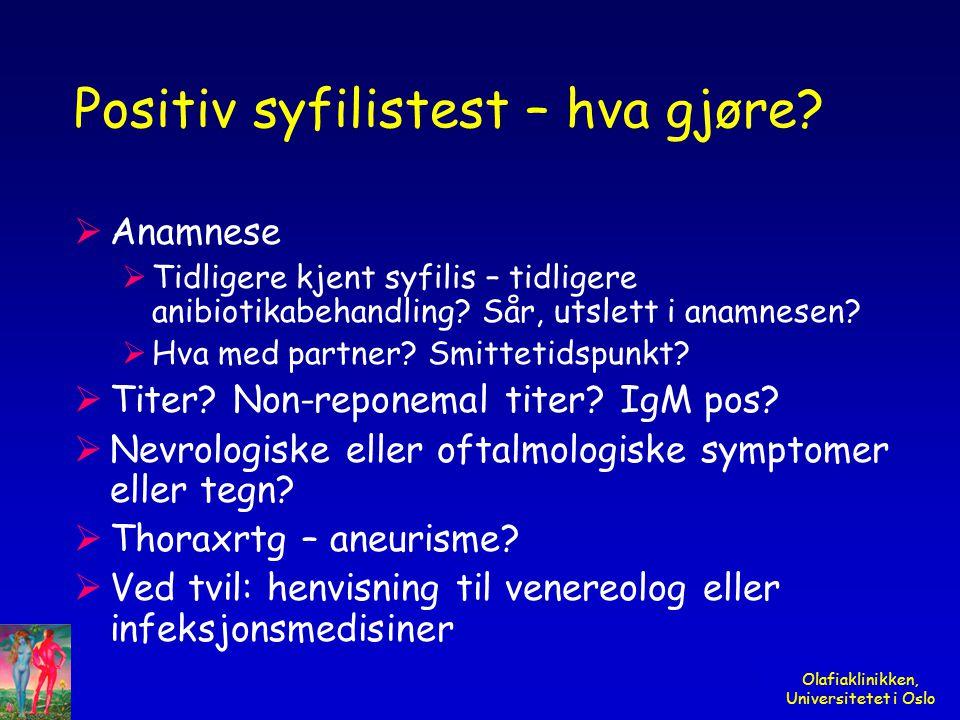 Positiv syfilistest – hva gjøre