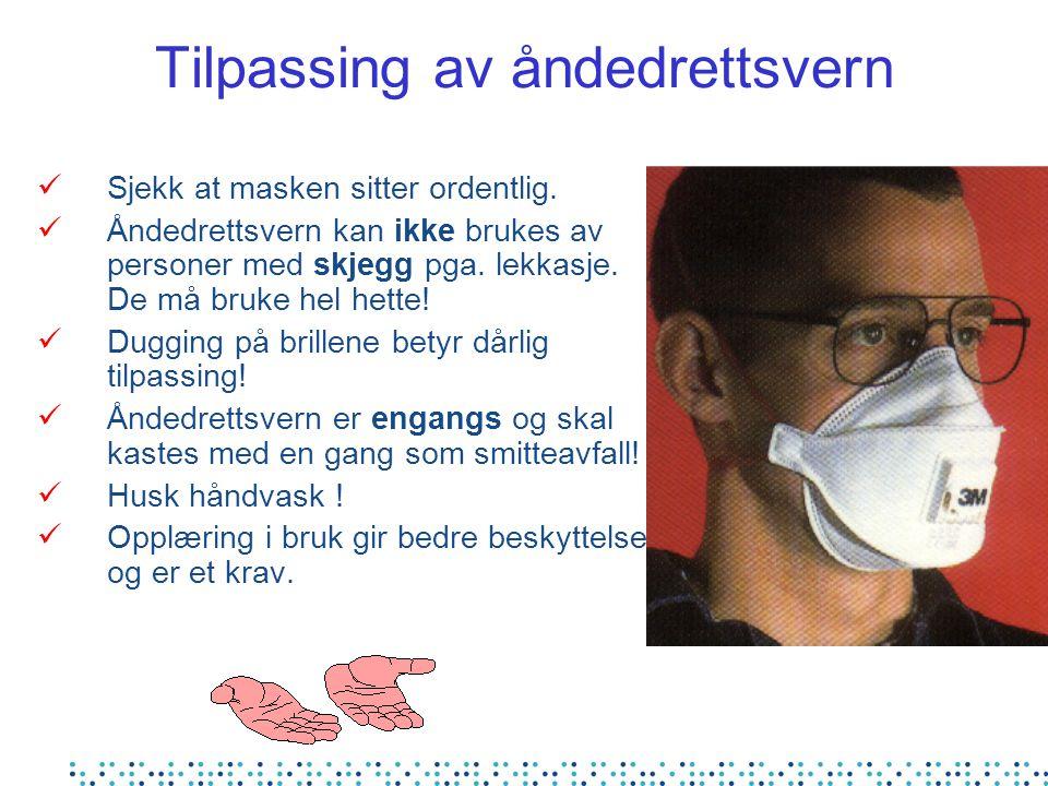 Tilpassing av åndedrettsvern