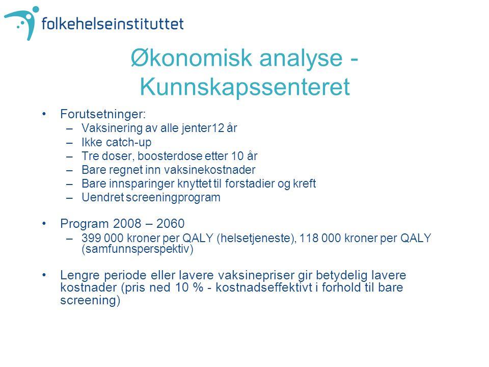 Økonomisk analyse - Kunnskapssenteret