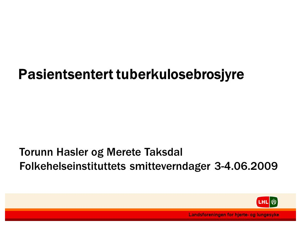 Pasientsentert tuberkulosebrosjyre