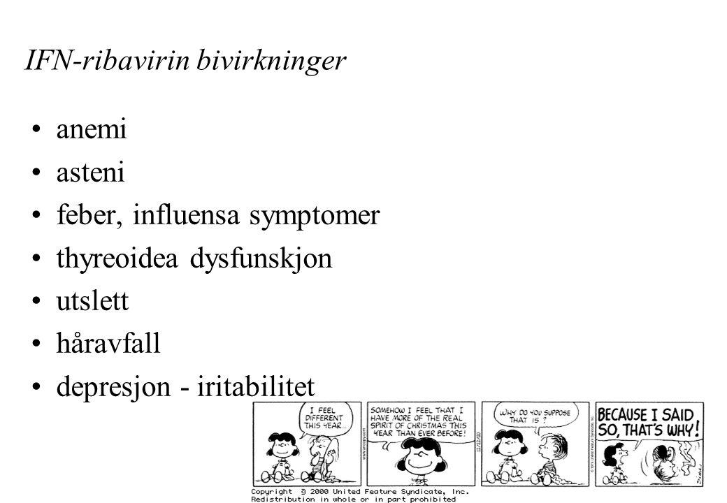 IFN-ribavirin bivirkninger