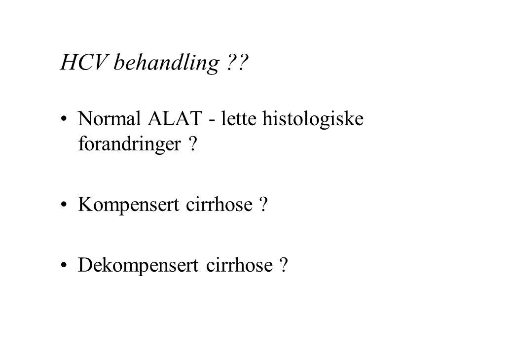 HCV behandling Normal ALAT - lette histologiske forandringer