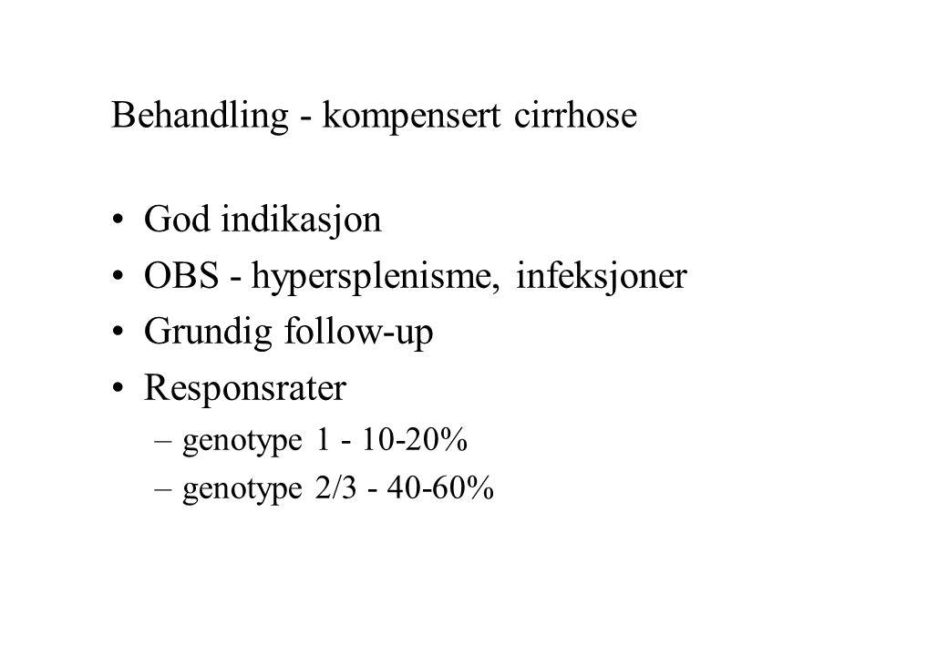 Behandling - kompensert cirrhose