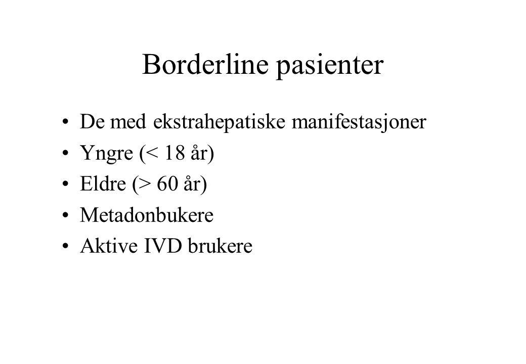 Borderline pasienter De med ekstrahepatiske manifestasjoner