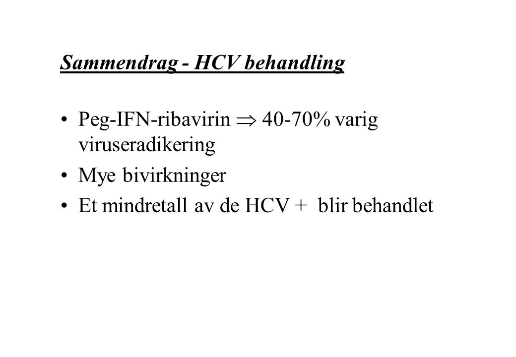 Sammendrag - HCV behandling