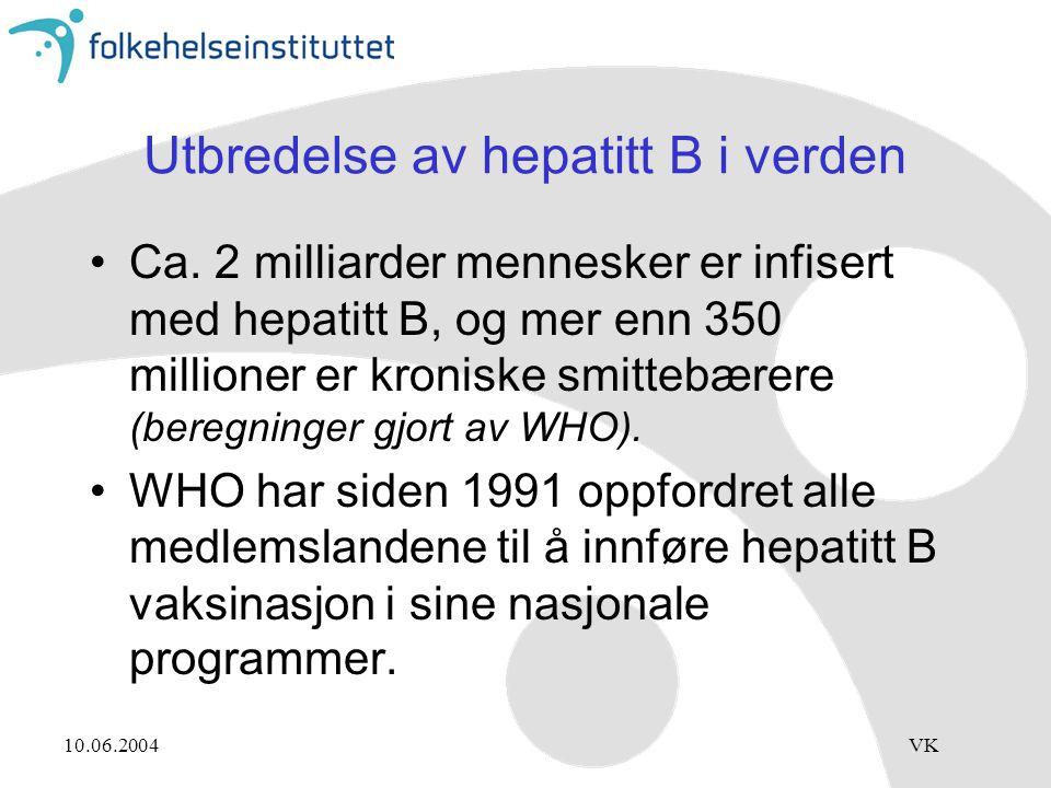 Utbredelse av hepatitt B i verden