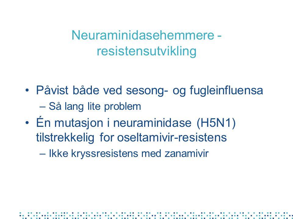 Neuraminidasehemmere -resistensutvikling