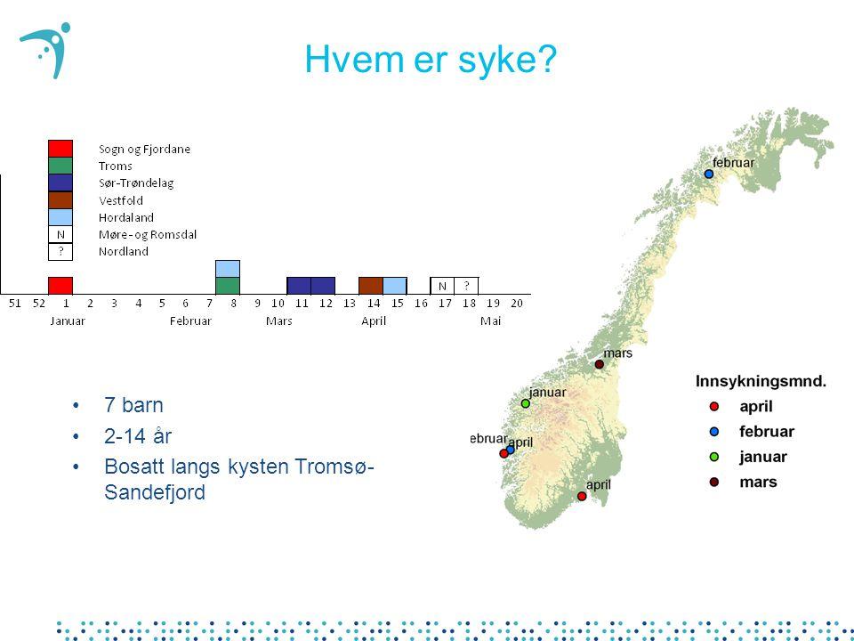 Hvem er syke 7 barn 2-14 år Bosatt langs kysten Tromsø-Sandefjord