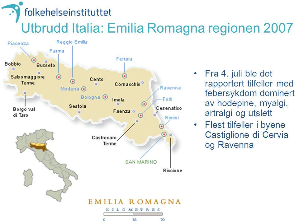 Utbrudd Italia: Emilia Romagna regionen 2007