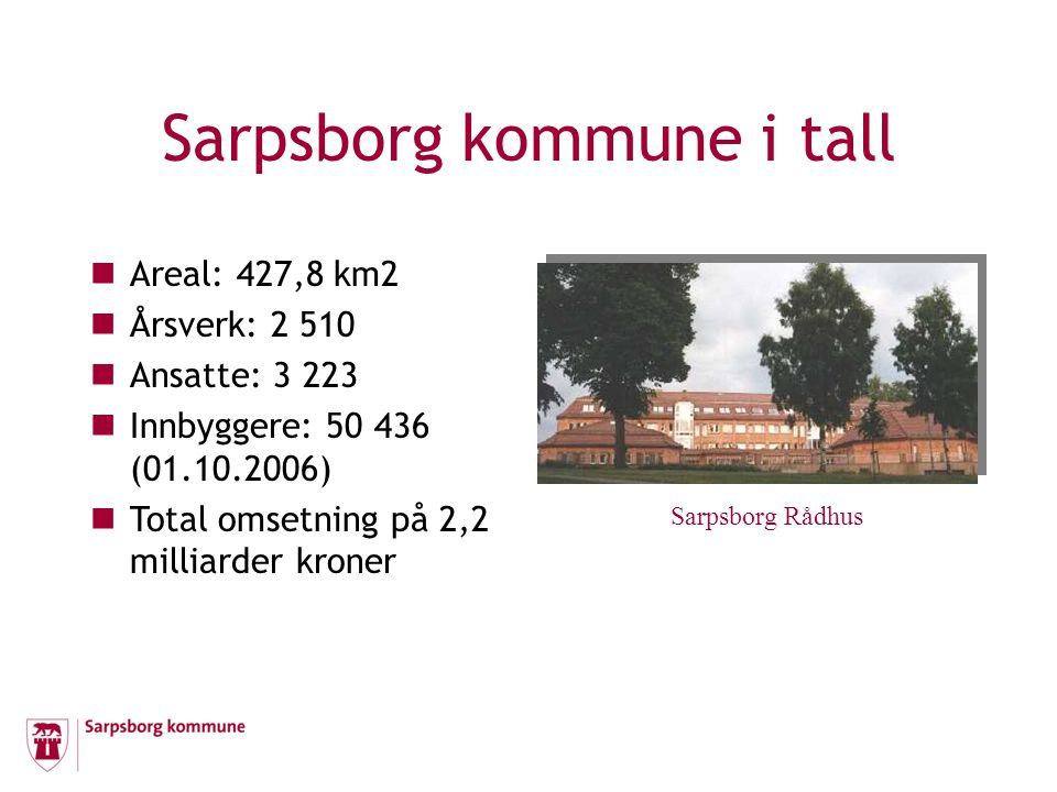 Sarpsborg kommune i tall