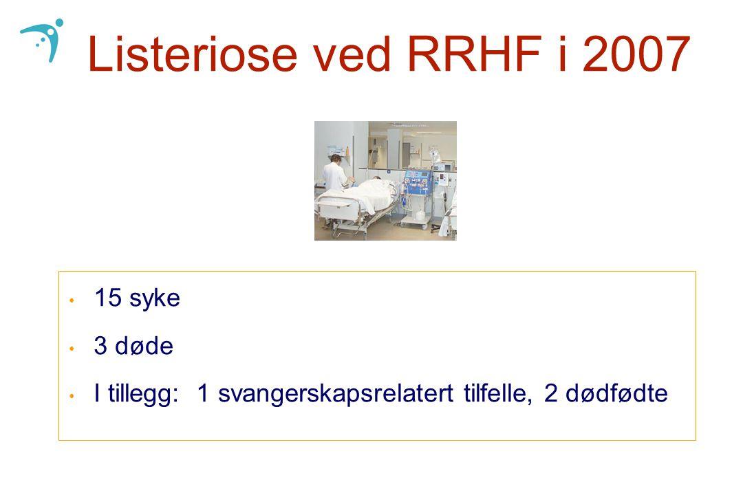 Listeriose ved RRHF i 2007 15 syke 3 døde