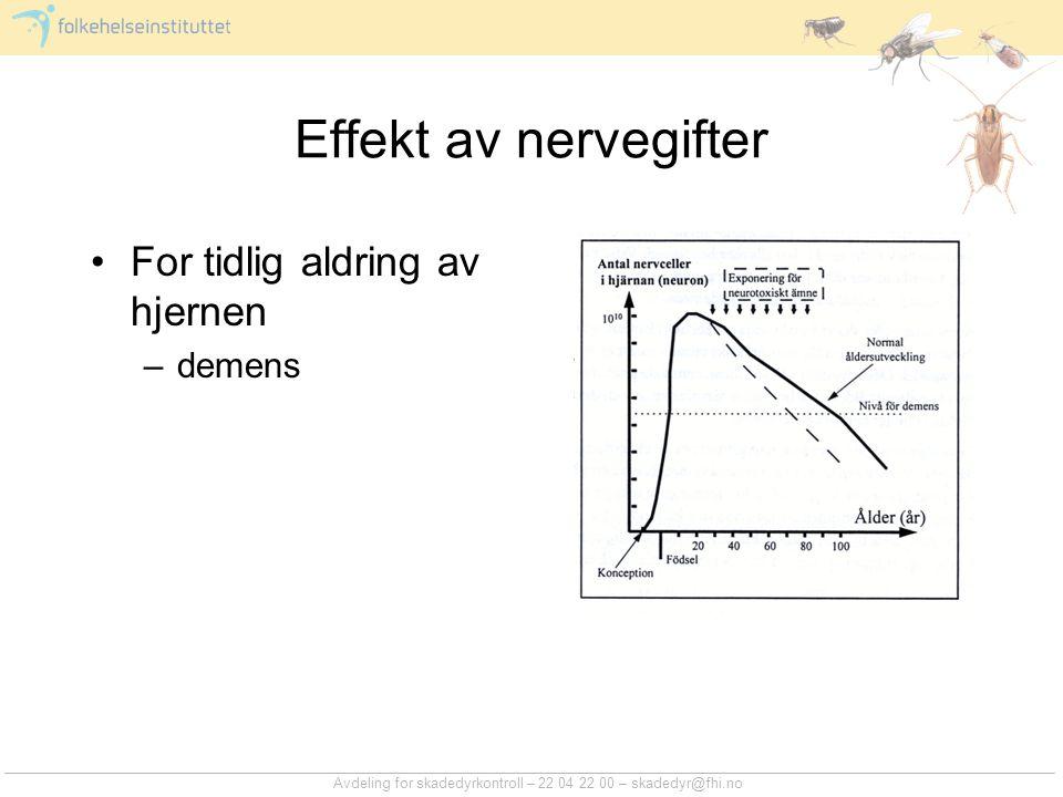 Effekt av nervegifter For tidlig aldring av hjernen demens
