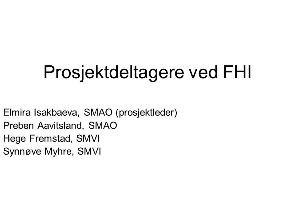 Prosjektdeltagere ved FHI